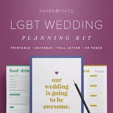 LGBT Wedding Planning PDF Gay Lesbian Planner Book Binder Itinerary Checklist Organizer
