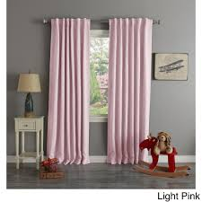 Kohls Magnetic Curtain Rods by Aurora Home Thermal Rod Pocket 96 Inch Blackout Curtain Panel Pair