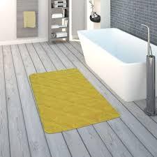 moderner badezimmer teppich rutschfest badvorlerger