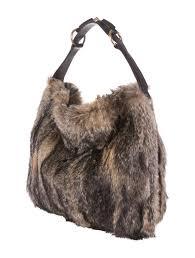 gucci fox fur horsebit hobo handbags guc52660 the realreal