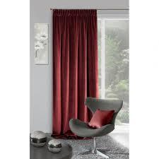 dekorativer vorhang villa dunkel dunkelrot 140x270 kräuselband