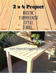 Rustic Farmhouse Style Table Using Only 2 X 4s Diy Painted Furniture