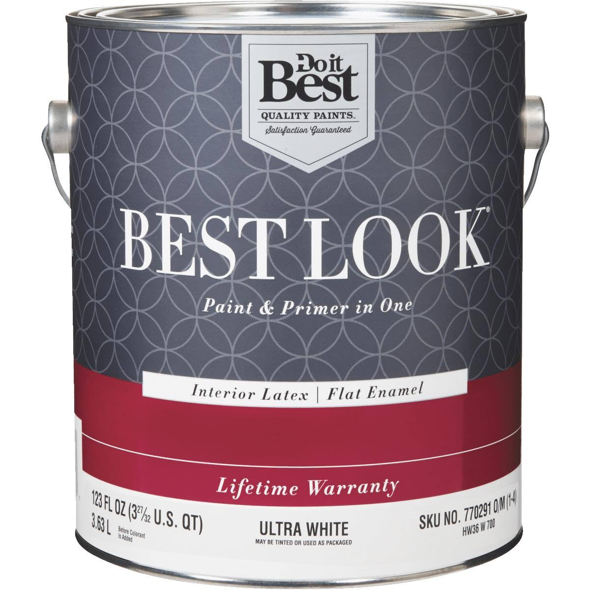 Do it Best Best Look Paint and Primer in One Flat Enamel Interior Wall Paint