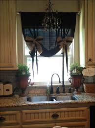 Kitchen Burlap Tier Curtains Kitchen Ribbon Made Picture