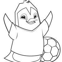 Custom Soccer Jersey Penguin