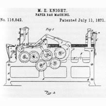 Margaret Knights Paper Bag Folding Machine Patent