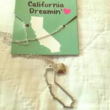 California State Outline Heart Necklace