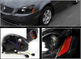 05 06 nissan altima black reflectors projector headlights