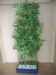 kunstpflanze raumteiler raumtrenner bambus kunststoff ca h