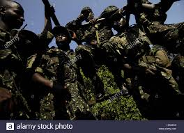 100 Two Ton Truck Uganda Army Soldiers Ride Back To Camp In The Back Of A Two
