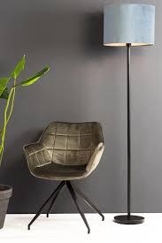 esszimmerstuhl jaimy samt dunkel grau schwarz