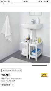 2x ikea vesken bad regal plastik waschbeckenunterschrank