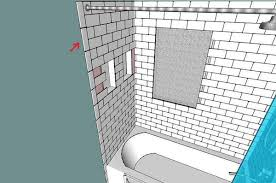 tub surround tile layout lining things up ceramic tile advice
