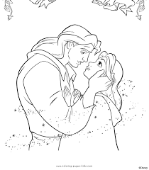 The Prince And Belle Beauty Beast Color Page Disney Coloring Pages