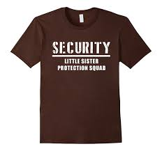 Amazon.com: Security Little Sister Protection Squad Big Brother T ...