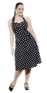 black polka dot halter party dress flatter your curves retro