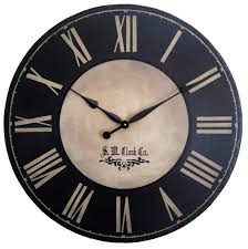Large Wall Clock 24 Inch Port Royal Antique Style By Klocktime 8400