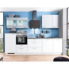 küchenzeile weiß graublau matt 315 cm