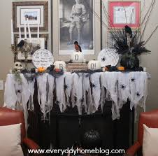 Halloween Fireplace Mantel Scarf by No Sew Halloween Mantel Scarf The Everyday Home