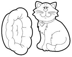 Cat House Coloring Kitty Pages