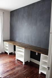 Building A Simple Wooden Desk by Best 25 Long Desk Ideas On Pinterest Basement Office Cheap