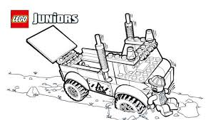 LEGOR Juniors Stuck Truck Coloring Page