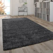 hochflor teppich shaggy teppich moderner wohnzimmer teppich in grau anthrazit