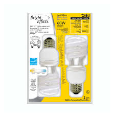 shop bright effects 2 pack 60 watt equivalent soft white compact