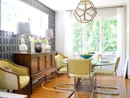 Yellow And Gray Midcentury Modern Dining Room
