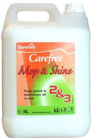 carefree mop shine by johnson diversey is a floor polish and