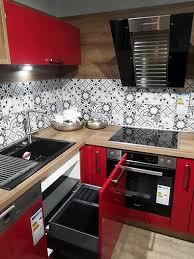 nobilia musterküche rote hochglanz küche inklusive