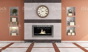 gaskamin im wohnzimmer stockfoto und mehr bilder altertümlich