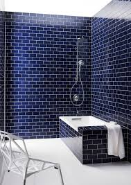 blue and white tile bathroom floor decorating ideas subway shower