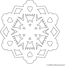 Easy Snowflake Template Free Embroidery Pattern Printable Patterns To Cut Out Simple Large Size Paper Cutting