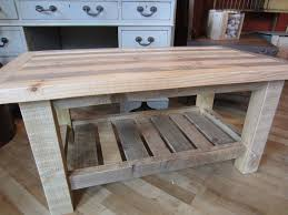 FurnitureVintage Rectangle Pallet Wood Coffee Table Ideas With Grey L Shape Sofa Also Small