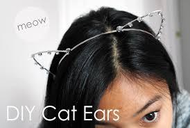 how to make cat ears deconstrut meow diy rhinestone cat ears