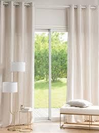 einzelner vorhang mit ösen beige meliert und ecru 140x270cm maisons du monde