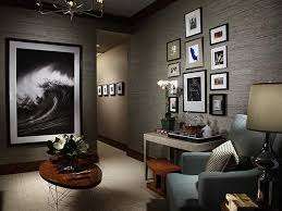 Grey And Taupe Living Room Ideas by Gray Living Room With Wall Art Wave Decor Pinterest Grey