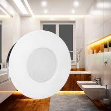 rw 1 led einbaustrahler für bad außen ip65 weiß matt inkl 5w led gu10 neutralweiß 230v