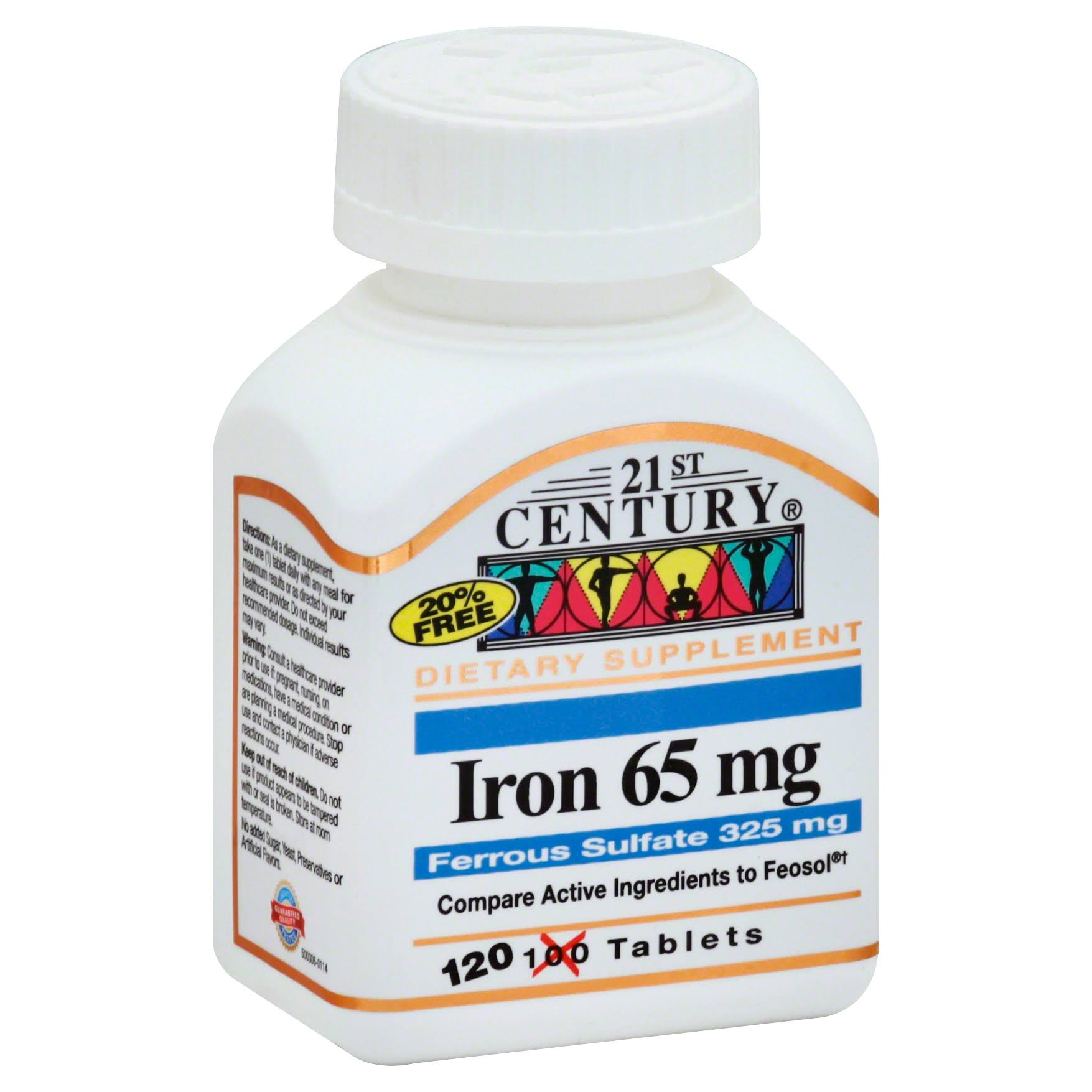 21st Century Iron Supplement - 65mg, 100ct
