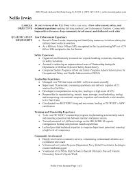 Police Officer Resume Example Examples Of Resumes Template