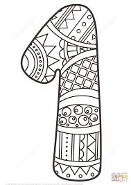 Number 1 Coloring Page Zentangle Free Printable Pages Picture