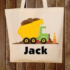 100 Kids Dump Truck Truck Tote Bag Boys Tote Bag Tote Bag Construction Bag