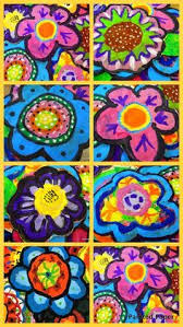 PAINTED PAPER Painted Paper Flowers And Landscape Projects Spring Art ProjectsSchool ProjectsElementary