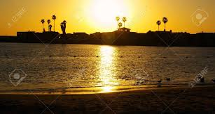 100 Silver Strand Beach Oxnard Sunset At In California Stock Photo Picture