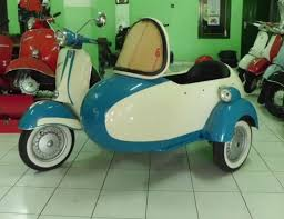 Vintage Vespa Scooter With Sidecar Sale