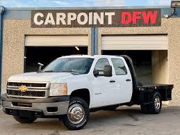 100 Truck 2014 Chevrolet SILVERADO 3500HD CREW CAB 2WD FLATBED 60L VORTEC GAS ENGINE
