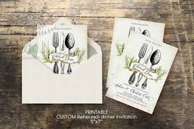 Wedding Rehearsal Dinner Invitation Custom Printable 5x7 Rustic Invite