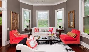 Coral Color Interior Design by Gray Black Coral Color White Scheme Google Search Apartment