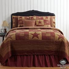 Country Rustic Western Star Twin Queen Cal King Quilt Bedding Set Accessories
